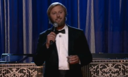Rory Scovel goes black-tie for this stand-up set on Conan