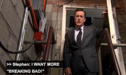"""Stephen Colbert locks Vince Gilligan in chains in a basement to write more """"Breaking Bad"""""""
