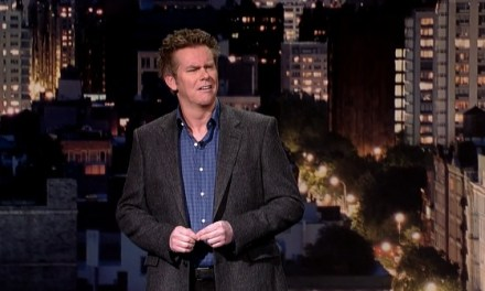 Brian Regan holds the line on Late Show with David Letterman