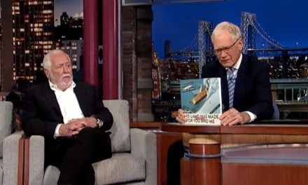 "David Letterman has co-authored a humor book satirizing the One Percent, ""This Land Was Made For You and Me (But Mostly Me)"""
