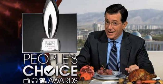 Ask, and he shall receive: Stephen Colbert's People's Choice Award for Favorite Late-Night Talk Show Host, 2014