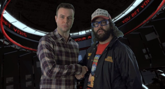 Taran Killam and Judah Friedlander wager high-stakes Super Bowl XLVIII bet over Seahawks-Broncos