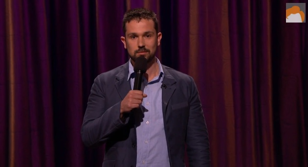 Mike Recine's debut on Conan