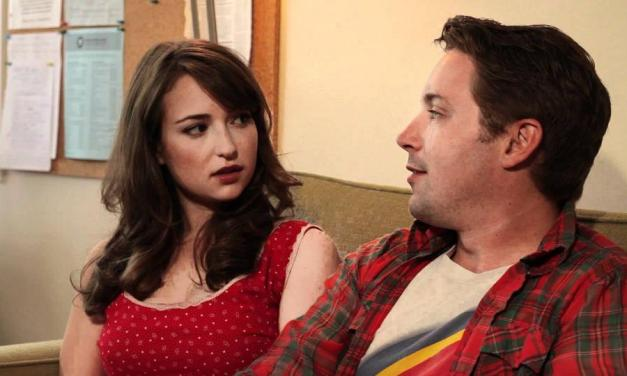 "AT&T SNL TBT: Milana Vayntrub interviewed Beck Bennett and Good Neighbor for ""Live Prude Girls"""