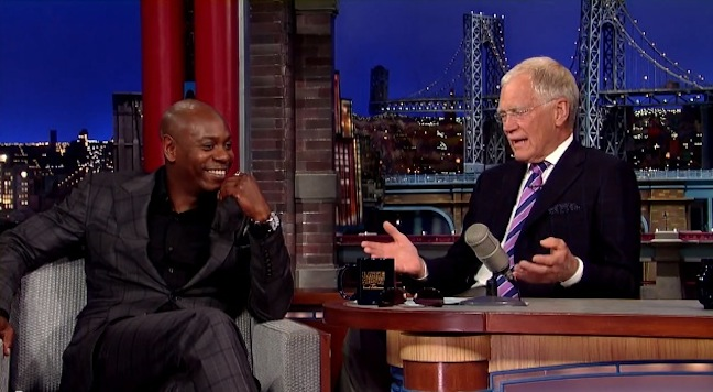 Dave Chappelle relives 2004 with David Letterman in 2014