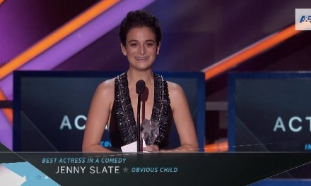 "Jenny Slate wins Critics' Choice Award for Best Actress in a Comedy for ""Obvious Child"""