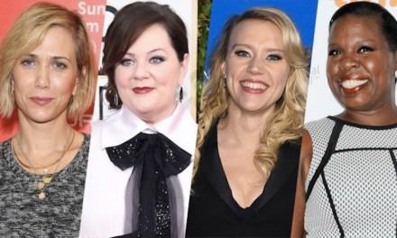 Your Ghostbusters rebooted, ladies! Kristen Wiig, Melissa McCarthy, Kate McKinnon, Leslie Jones