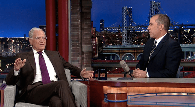 Jerry Seinfeld's last David Letterman appearance pays tribute to his first