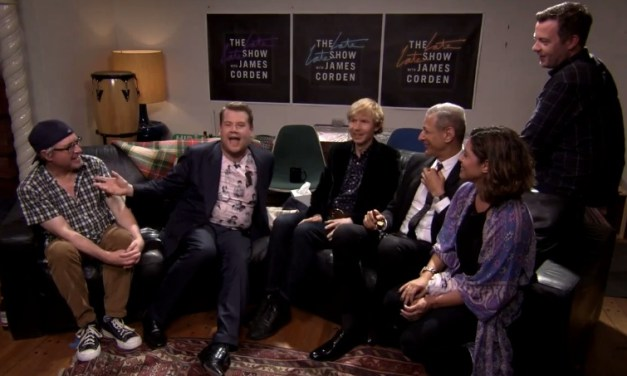 James Corden hosts The Late Late Show from a neighbor's house