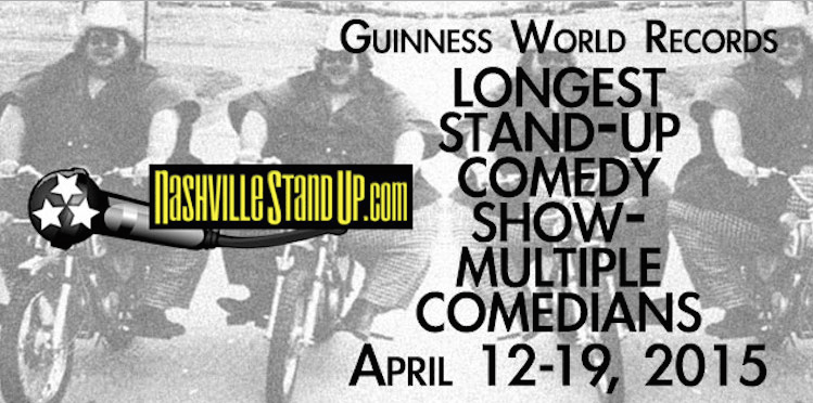 "Nashville comedians attempting eight-day ""world record"" continuous comedy show"