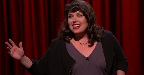 Jenny Zigrino's late-night TV debut on Conan