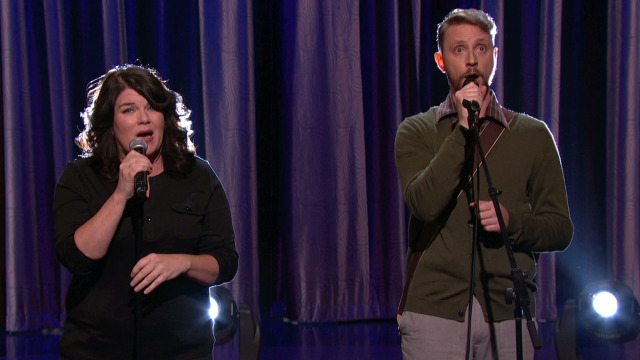 "Drennon Davis & Karen Kilgariff perform ""The High Song"" on Conan"