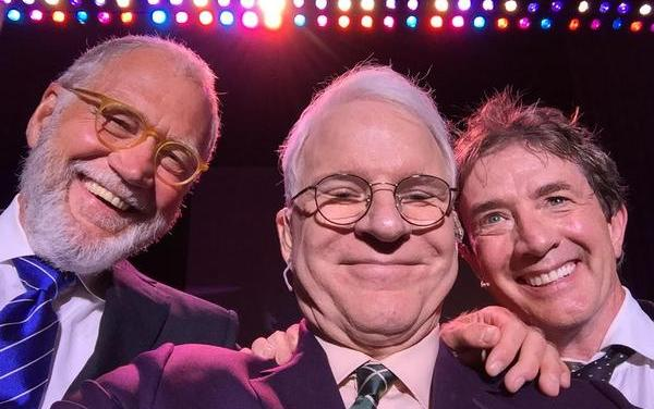David Letterman surprises San Antonio crowd by joining Steve Martin, Martin Short onstage for special Top 10 list