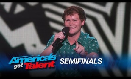 Drew Lynch drops the mic on his live semifinal performance of America's Got Talent