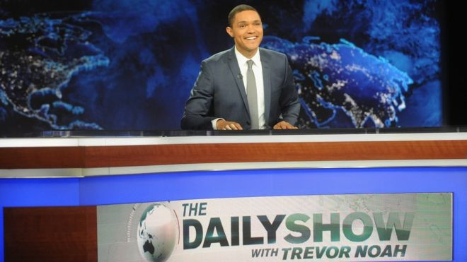 Trevor Noah's debut as host of The Daily Show on Comedy Central