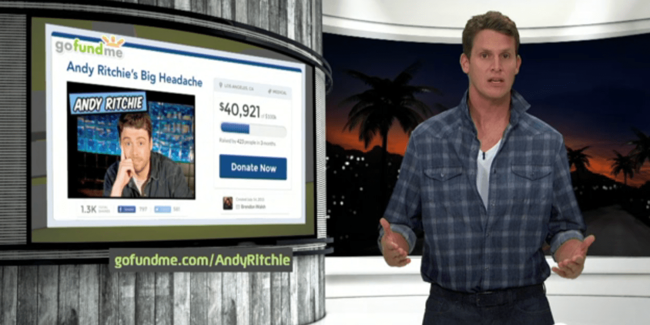 Daniel Tosh raises $25,000 for Andy Ritchie's medical bills, doubles down betting it on football