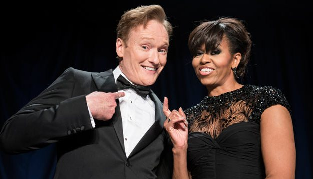 Conan O'Brien joining First Lady Michelle Obama on visit to U.S. military in Qatar, filming it for TBS
