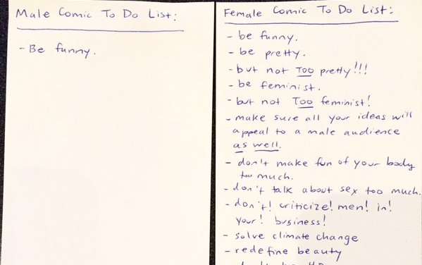 Comedian To Do List: Men vs. Women, by Sara Schaefer