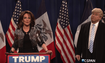 Tina Fey as Sarah Palin opens SNL episode #41.11 endorsing Darrell Hammond's Donald Trump