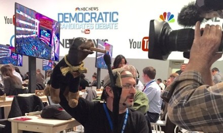 Triumph the Insult Comic Dog is covering the 2016 presidential campaign for Hulu