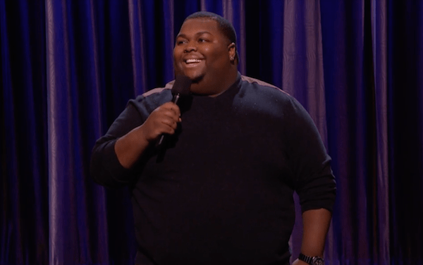 Leonard Ouzts makes his stand-up TV debut on Conan