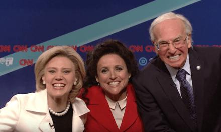 Elaine Benes meets Bernie Sanders as Julia Louis-Dreyfus hosts SNL with special guest Larry David