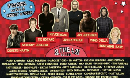 Toronto's JFL42 2016 includes Jim Gaffigan, Tig Notaro, Trevor Noah, Jim Jefferies, Roseanne Barr, Anthony Jeselnik, Demetri Martin and Chris D'Elia
