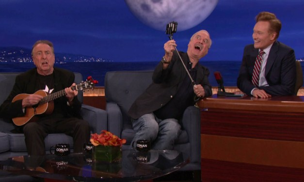 "John Cleese and Eric Idle's new song, ""F*** Selfies,"" on Conan"