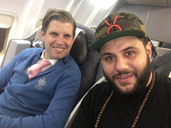 Comedian Mo Amer's TransAtlantic flight with Eric Trump