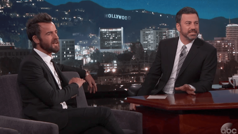 Justin Theroux and Jimmy Kimmel will stage a live reading of a classic sitcom on ABC