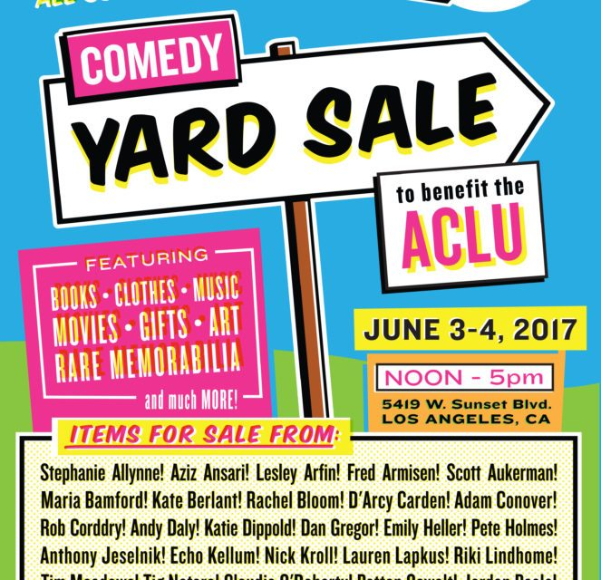 UCB Sunset hosting a Comedy Yard Sale and auction to benefit ACLU