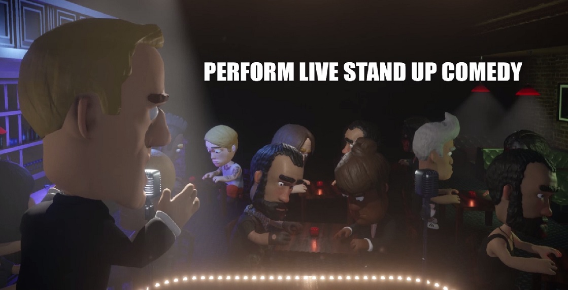 """Who wants to be a virtual stand-up comedian? """"Comedy Night"""" video game on Steam lets you do just that, or be in the virtual audience"""