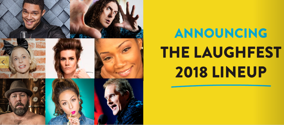 Laughfest announces headliners for March 2018 celebration
