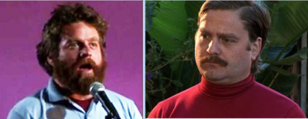 "Humor in Hindsight: Zach Galifianakis and his twin in ""Live at the Purple Onion"" and ""Between Two Ferns"""