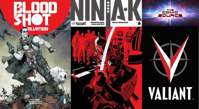 The Comic Source Podcast Episode 281 – Valiant Sunday – State of Valiant, Bloodshot Salvation #9 & Ninja-K #6