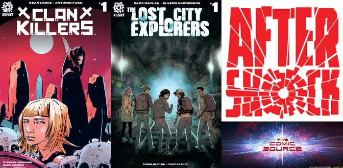 The Comic Source Podcast Episode 368 – AfterShock Monday: Clan Killers with Sean Lewis & Lost City Explorers with Zack Kaplan