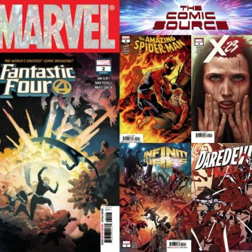 The Comic Source Podcast Episode 508 – Marvel Monday: Fantastic Four #2, Amazing Spider-Man #5, Infinity Wars #3, X-23 #4 & Daredevil #3