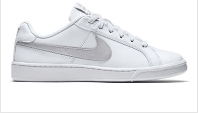 NIKE Leather Low-Top Sneakers at the Bay for $75.00.