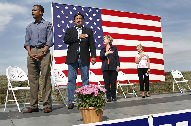 Obama refuses to salute flag.