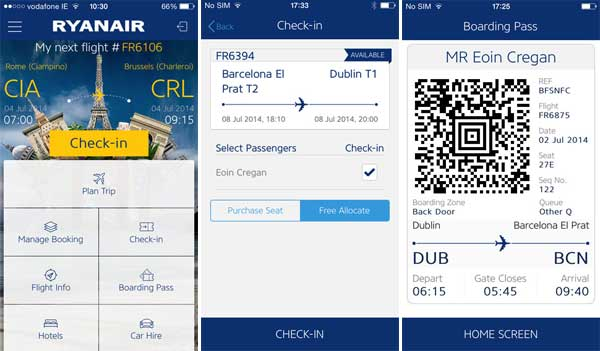 Applications-voyage-Ryanair