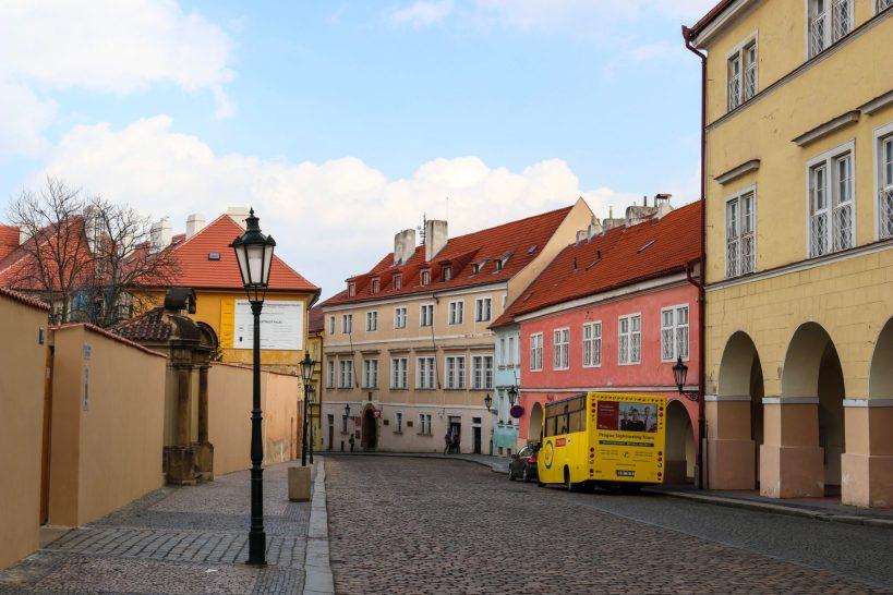 Colline du chateau à Prague