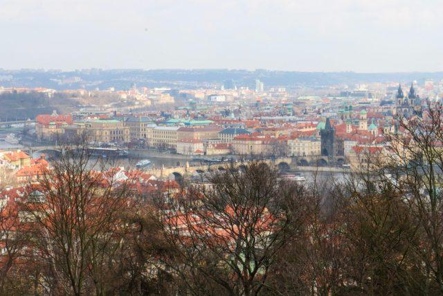 Vue depuis la colline de pretrin Prague