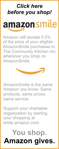 Amazon Smile - Make a purchase and help our Community Kitchen