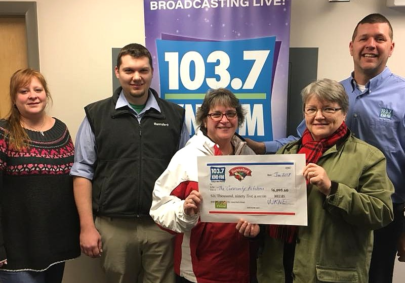 Food Drive Donation from WKNE.FM Keene NH
