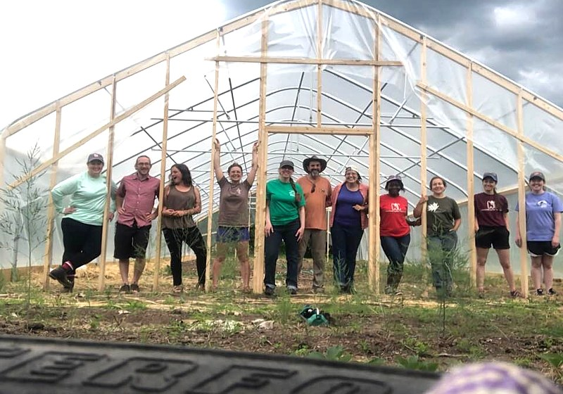 Newly constructed Hoop House at the Westmoreland Project
