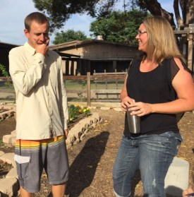 Mark with Garden Co-Ordinator Nicky Davies