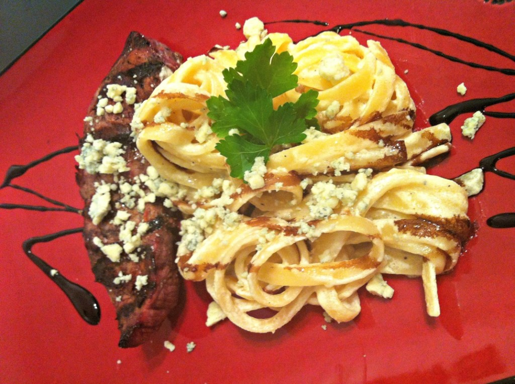 Plated Knock-Off OG Steak Gorgonzola ~ The Complete Savorist