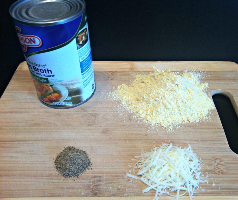 Ingredients for Parmesan Polenta