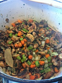 Mushroom and herbs