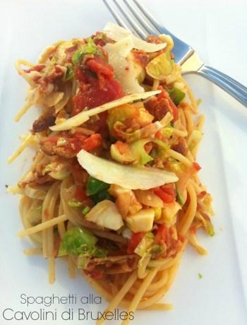 Spaghetti alla Cavolini di Bruxelles ~ The Complete Savorist